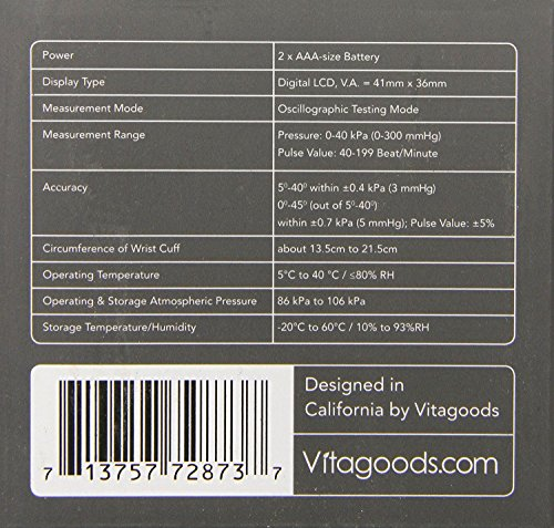 Vitasigns VS-4300-B Bluetooth Blood Black