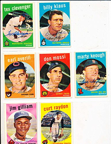 (Marty Keough Boston Red Sox #303 Signed 1959 topps SIGNED 1959 Topps baseball card)