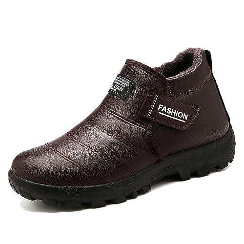 8c99caa8b0b DAZISEN Botas de Nieve Suaves y cálidas para Hombres - Zapatos cómodos para  Caminar de algodón de Invierno  Amazon.es  Zapatos y complementos