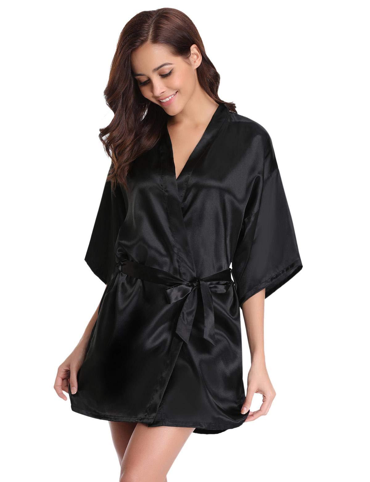 Abollria Kimono Mujer Bata para Satén Mujer Ropa de Dormir Batas product image