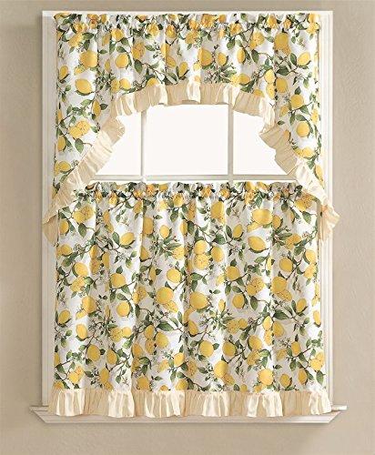 Kitchen Curtain Fruit Swag: Compare Price: Lemon Kitchen Curtains