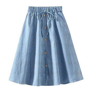 Falda de verano para mujer de línea A Midi, falda de playa ...