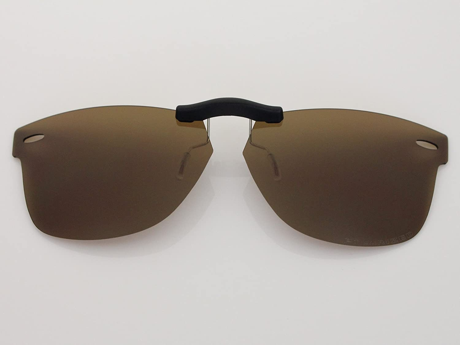b8d70ac9c76f Custom Fit Polarized CLIP-ON Sunglasses For Ray-Ban RB5121 47X22 Brown - -  Amazon.com