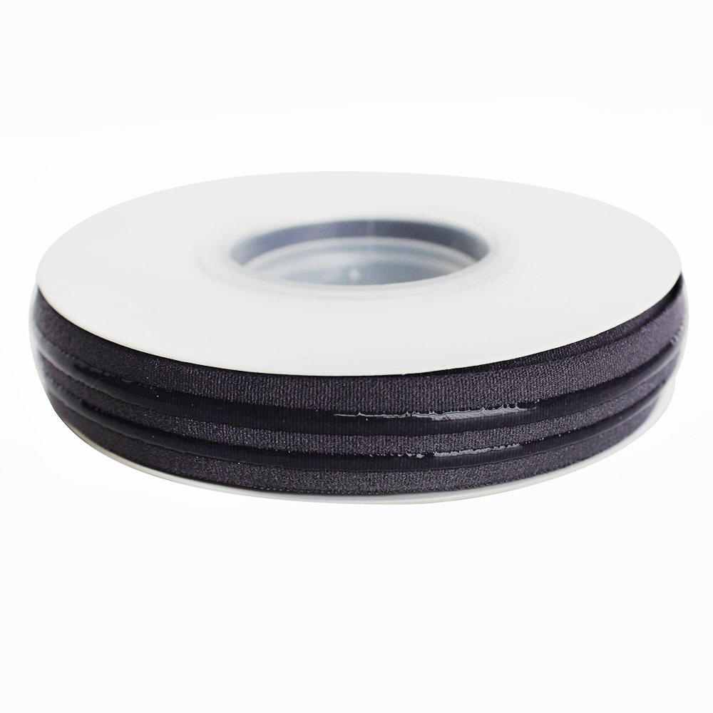15 mm Double Silicone Backed Gripper Elastic Ribbon for Garment Sewing Accessories - 5 Yards per roll (Black) Xiamen Xingmingfeng Textile Co. Ltd