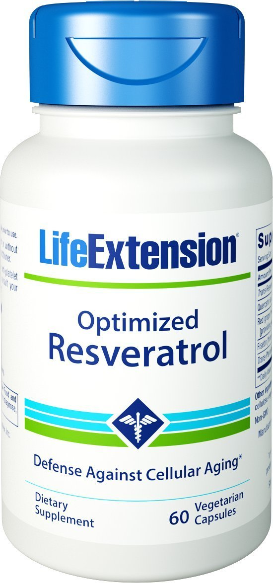 Life Extension Optimized Resveratrol, 60 Vegetarian Capsules by Life Extension