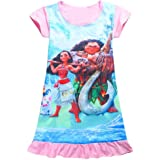 AOVCLKID Moana Comfy Loose Fit Pajamas Girls Printed Princess Dress