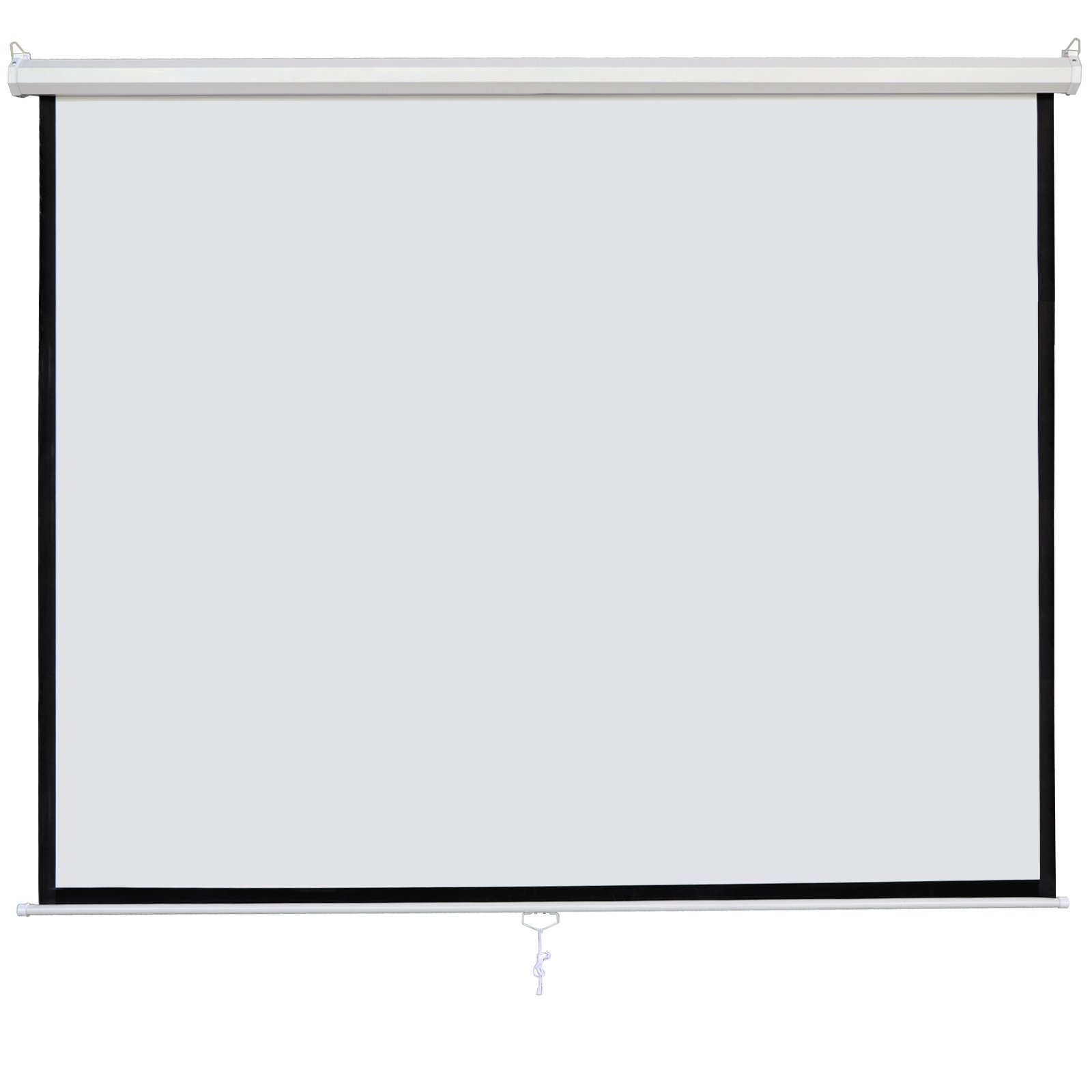SUPER DEAL 120'' Projector Screen Projection Screen Manual Pull Down HD Screen 1:1 Format for Home Cinema Theater Presentation Education Outdoor Indoor Public Display by SUPER DEAL (Image #2)