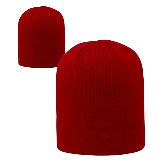 ff9dd192ea0aab Amazon.com : Top of the World Garnet Official Uncuffed Knit Classic Beanie  Stocking Stretch Sock Hat Cap by 021151 : Sports & Outdoors