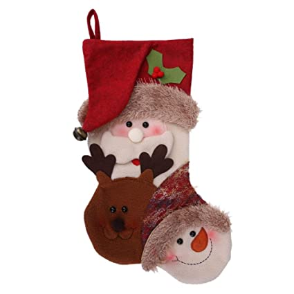 whitelotous santa claus big christmas stocking candy socks christmas gifts bag christmas party decorsanta - Big Christmas Gifts