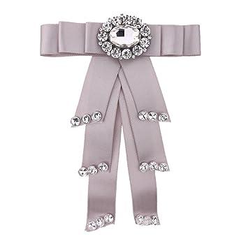 LILIMO Moda Arco Mujeres Color Sólido Arco Rhinestone Doble ...