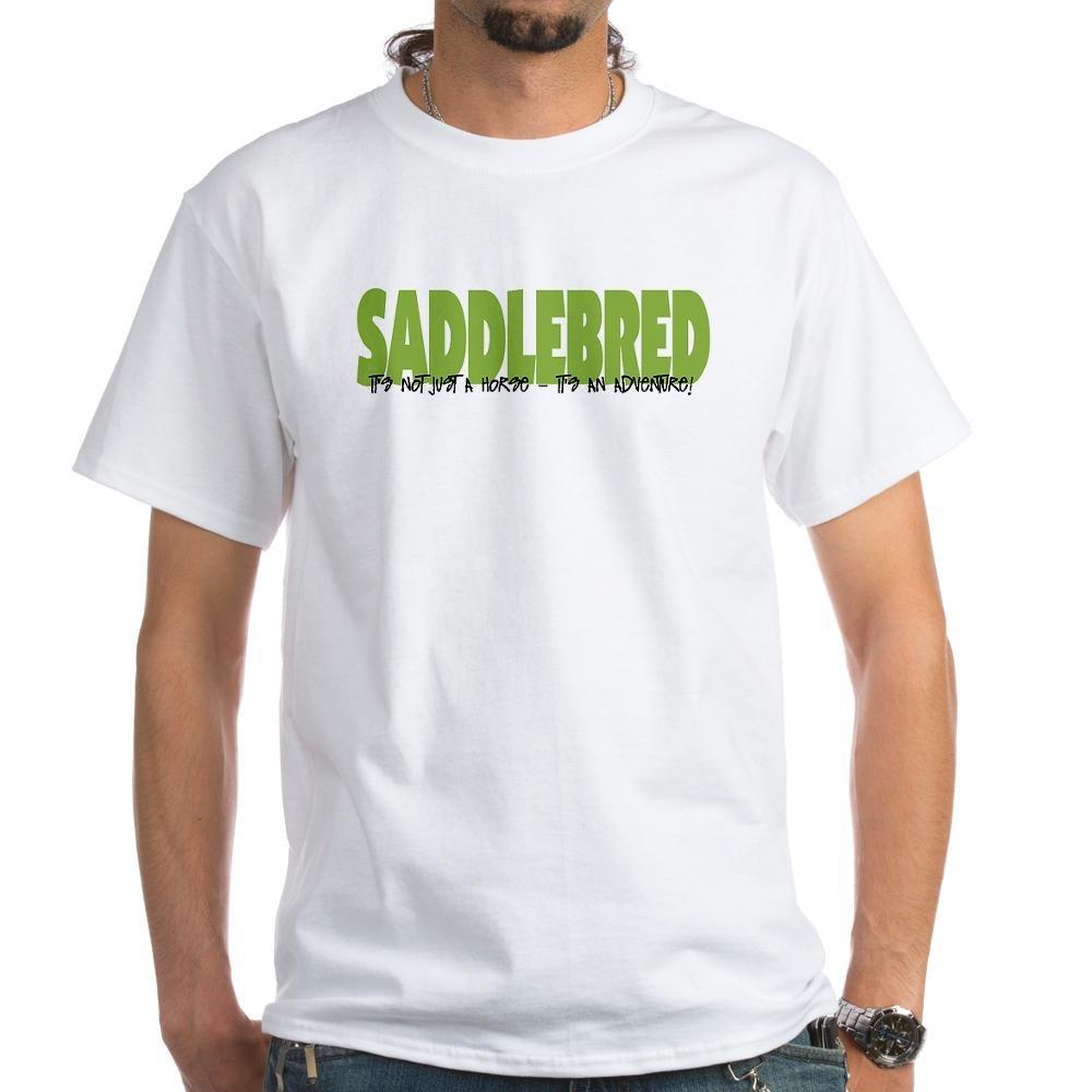 dba87b6830b5f4 Amazon.com  CafePress Saddlebred Adventure White T-Shirt Cotton T-Shirt   Clothing