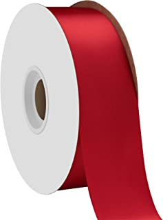 """product image for Offray Berwick 1.5"""" Single Face Satin Ribbon, Scarlet Red, 50 Yds"""