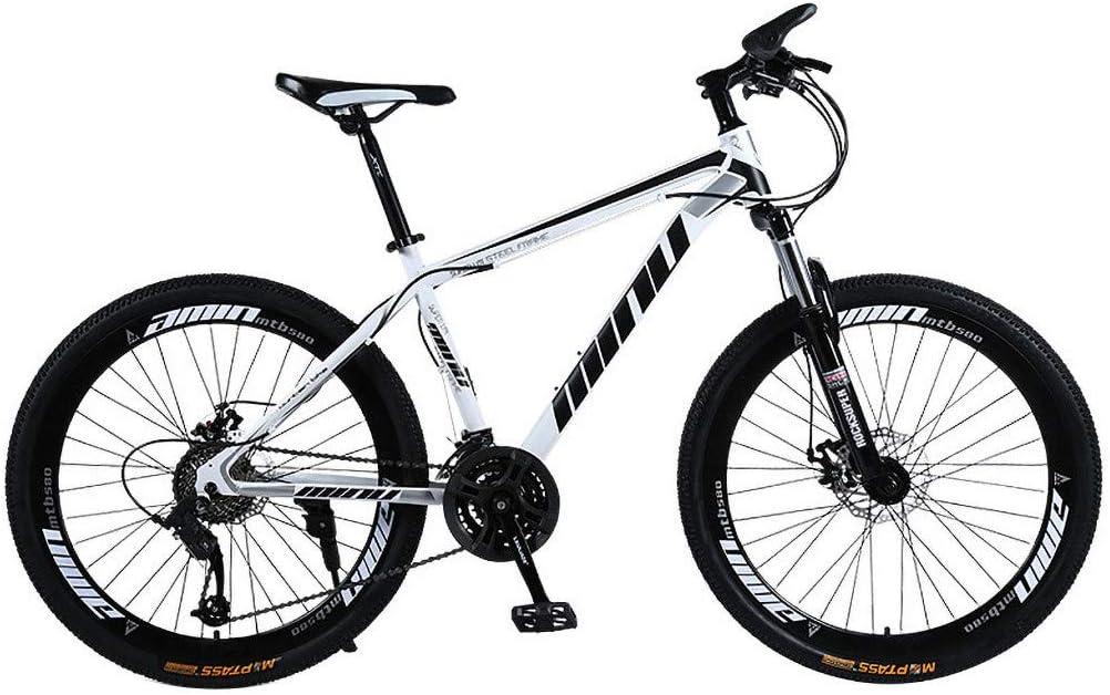 Lomsarsh Bicicleta de montaña, Bicicleta de montaña para Adultos de Velocidad Variable 26 Pulgadas, Bicicleta de Carretera de Velocidad Variable para Estudiantes Adultos, MTB - 21 velocidades