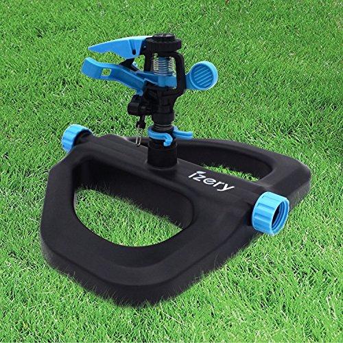 - izery Lawn Sprinkler, Water Sprinkler, Garden Sprinkler, High-Performance Water Irrigation System for Green Garden Lawn – Adjustable Rotating Impulse Head. A great summer toy for your kids.