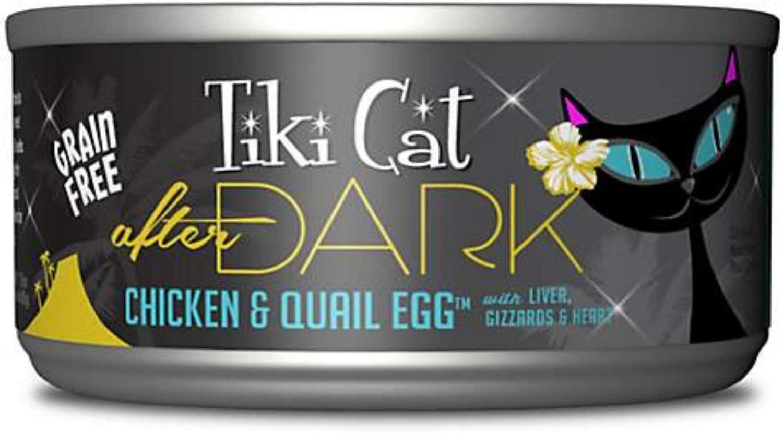 Tiki Cat After Dark Chicken & Quail 2.8 oz Can Case 12
