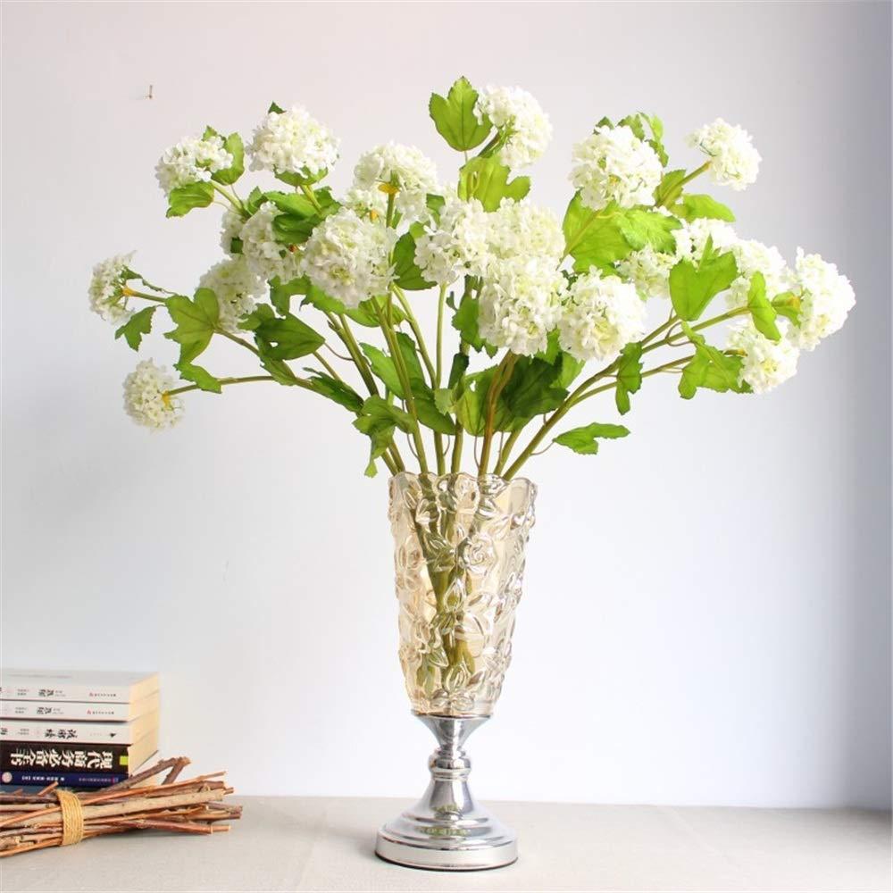 Fanvone Plantas de plástico Artificiales, 3 abanicos de Nieve ...