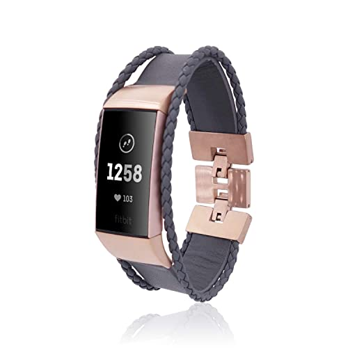 Amazon com: Band Aurel for Fitbit Charge 3 by fitjewels - Silver or