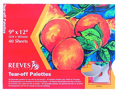 Reeves Tear-Off Palette Paper Pad with 40 Sheets, 9 by 12-Inch