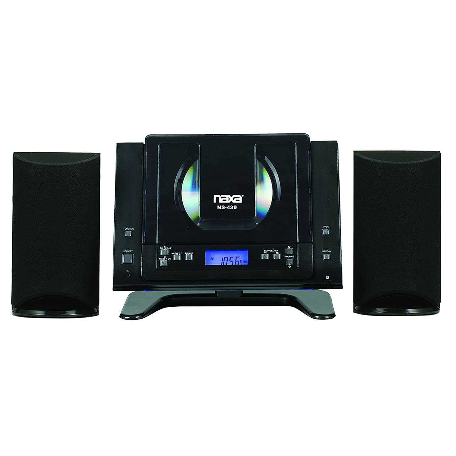 bluetooth mini compact wall shelf home stereo cd player. Black Bedroom Furniture Sets. Home Design Ideas
