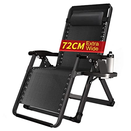 Bon Amazon.com : LXLA   Extra Wide Zero Gravity Chair With Drinks Holder    Outdoor Lounger Shade Chair For Heavy Duty People, Support 330lbs : Garden  U0026 Outdoor