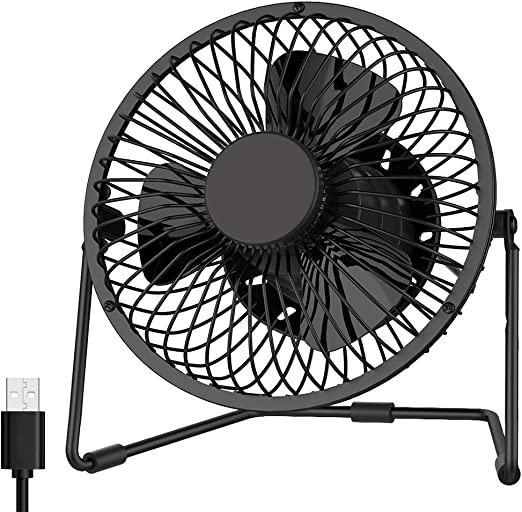 Color : Black , Size : Free size Mini Portable Fan Operated Clip On Mini Desk Fan USB Powered 120/° Rotation Clip On Fan Quiet For Home Office Bedroom 4 Colors USB Fan for Travel Office