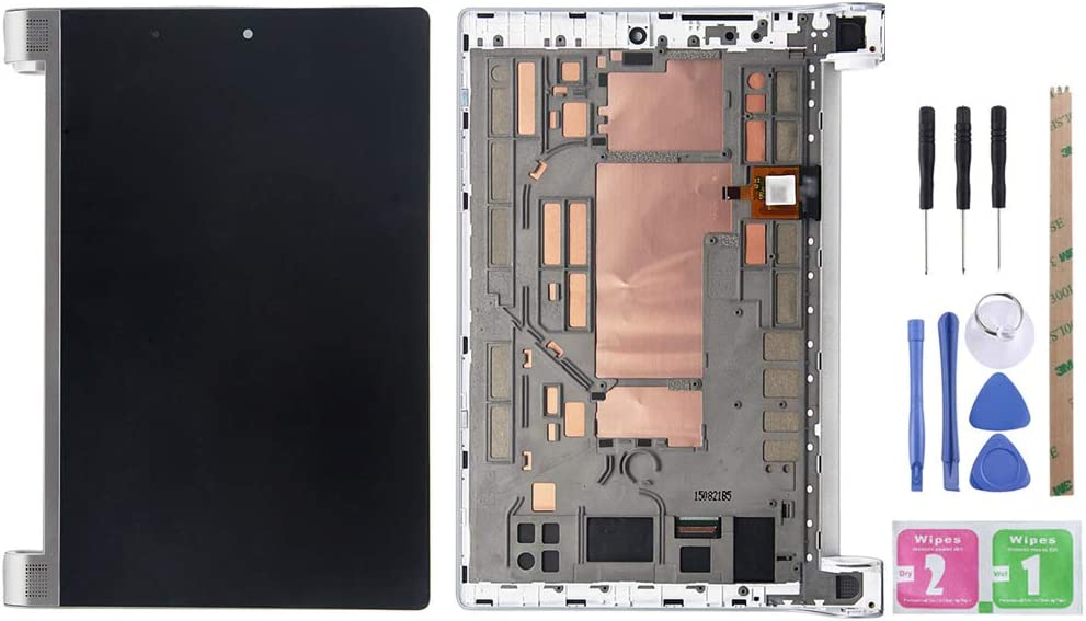 YeeLing LCD Display + Outer Glass Touch Screen Digitizer Full Assembly Replacement for Lenovo Yoga Tablet 2 830 830F 830L with Silver Frame