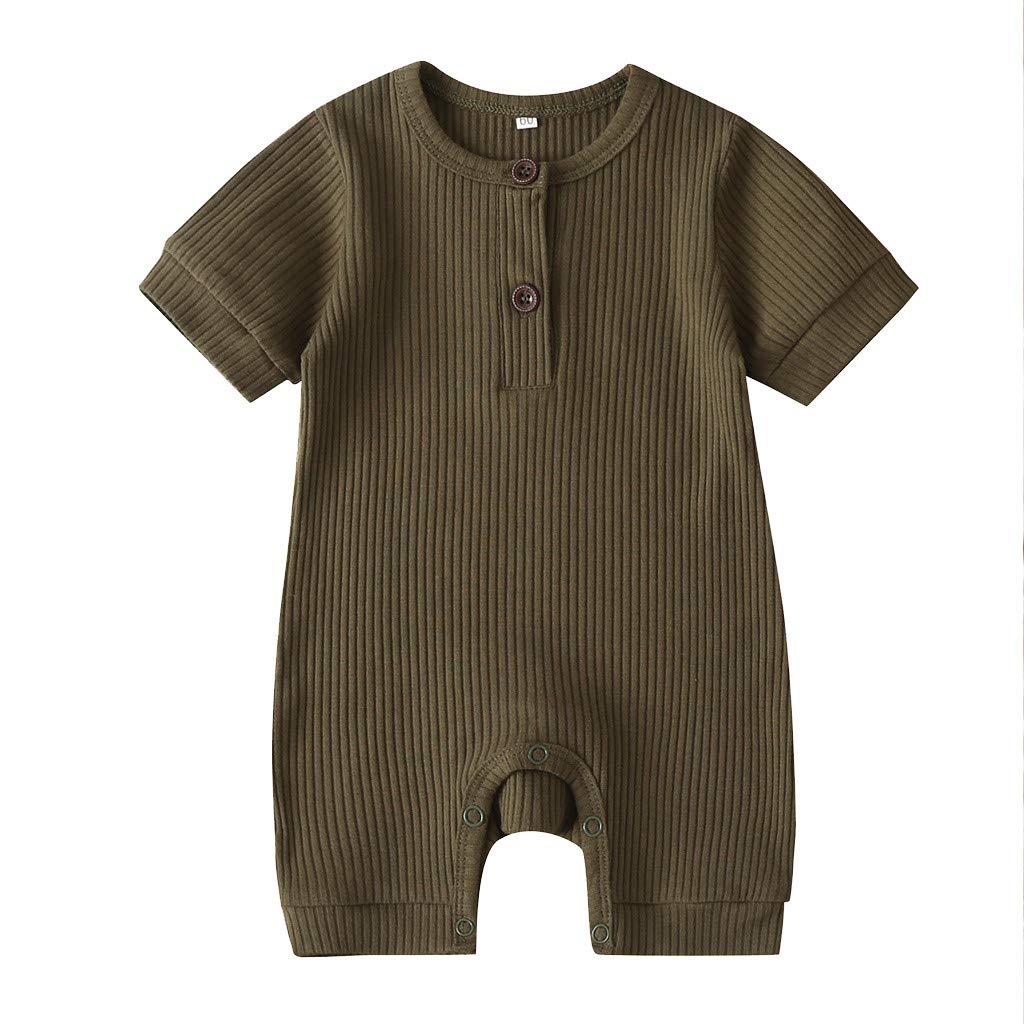 Neugeborenes Baby Unisex Schlafsack Strampler Neugeborene Baby Jungen M/ädchen Kurzarm solide Strampler Jumpsuit Kleidung ODRD M/ädchen Jungen Body Babyschlafsack