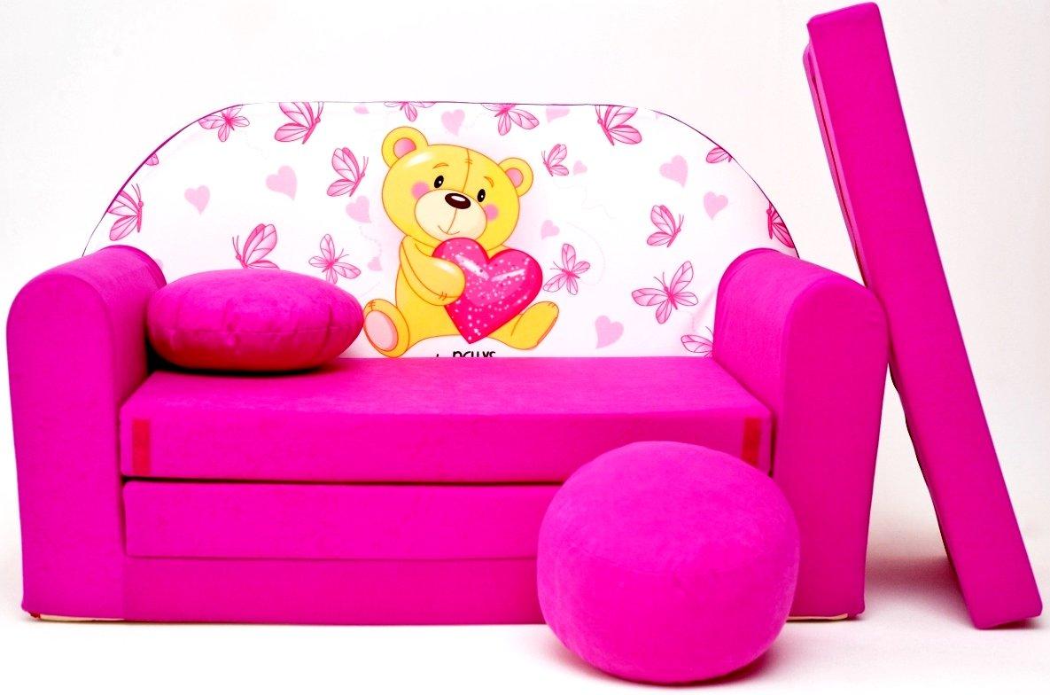 H3Niños Bar Dormir emergente sofá sofá sofá Mini sofá 3en 1Baby Set +–Sillón infantil y asiento cojín + colchón barabike SOF059