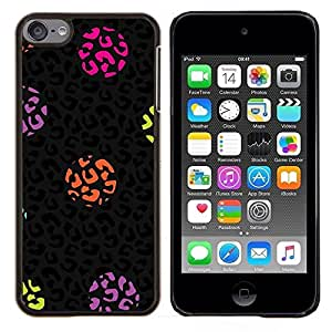 """S-type Dot Leopard Animal Patrón Negro"""" - Arte & diseño plástico duro Fundas Cover Cubre Hard Case Cover For Apple iPod Touch 6 6th Touch6"""