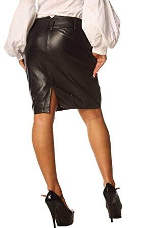 7adecc70a3f34c Black Leather Skirts Tight Fit Nappa Skins SK99 (26