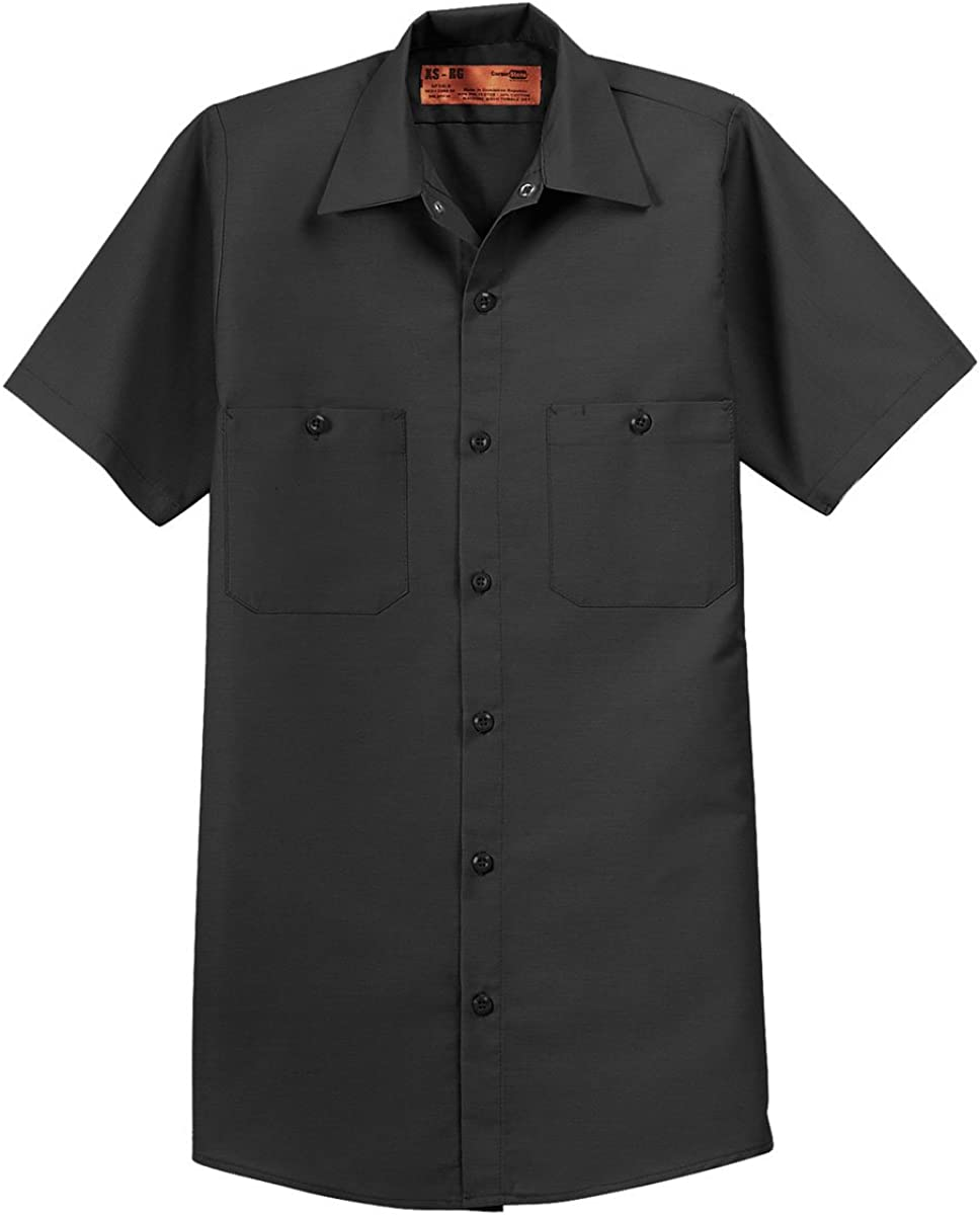 Amazon Com Red Kap Sp24 Short Sleeve Industrial Work Shirt Clothing