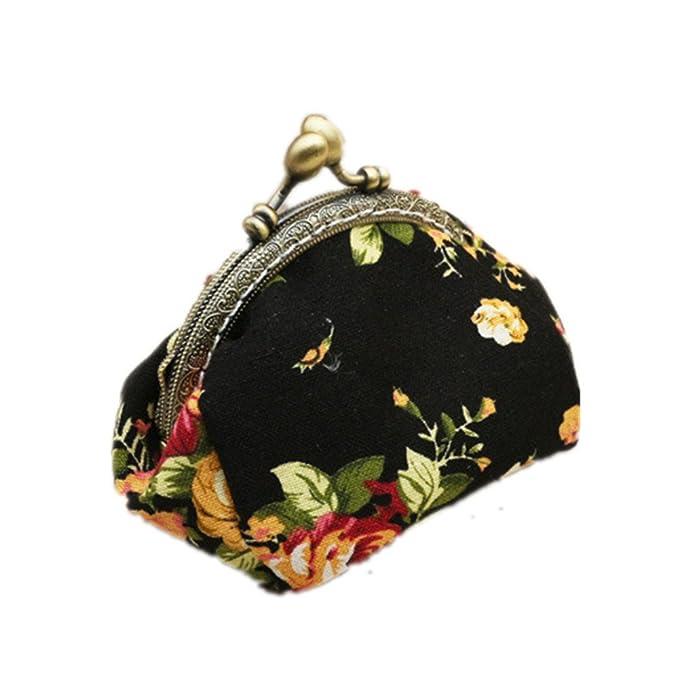 Amazon.com: Bolso de mano retro elegante de encaje pequeño ...