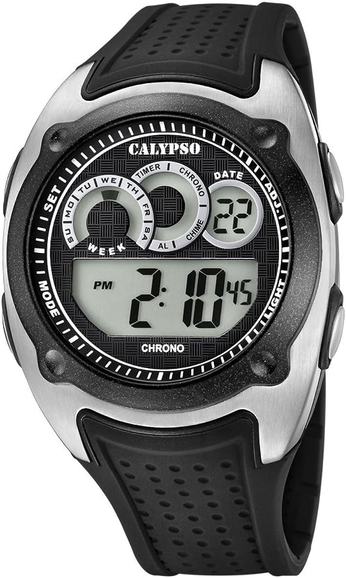 Calypso Reloj Digital para Hombre de Cuarzo con Correa en Plástico K5722/4