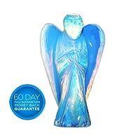 Ange de Poche Figurine ,Charminer Gardien Statue 4CM en Opalite Opal Sculpté Pierre Roche Apaisant Purificateur