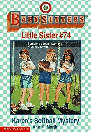book cover of Karen\'s Softball Mystery