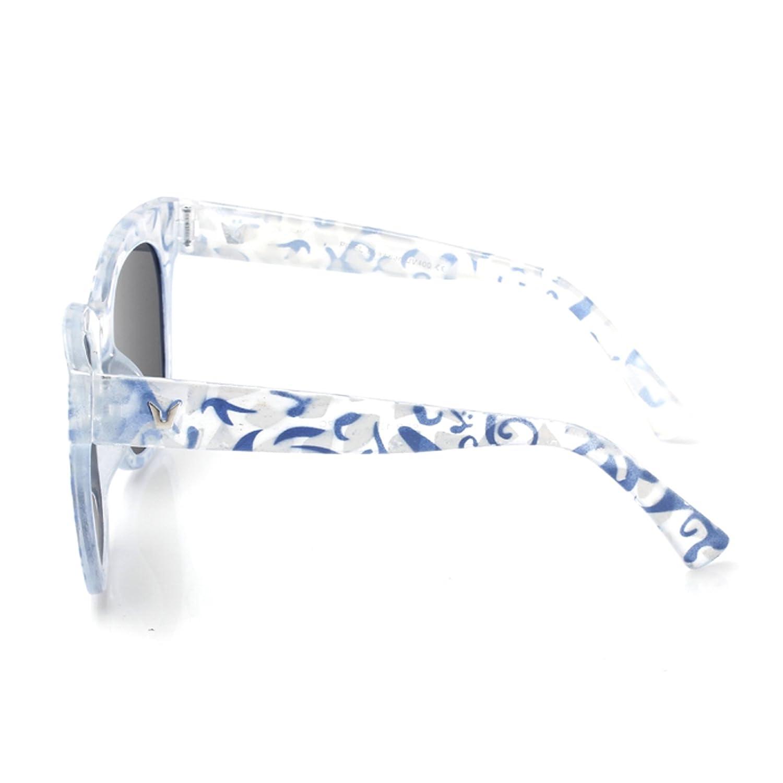 weiße sonnenbrille blaue gläser CuOmix Sonnenbrillen Frauen