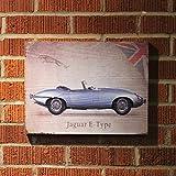 Vintage Parts 323944 Signature Jaguar Wooden Sign, 1 Pack