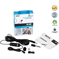 Boya BY-M1 Omni Directional Lavalier Condenser Microphone - (3rd Generation Upgraded with Extra Features) For Canon Nikon Sony iPhone 6 Plus Dslr Camcorder Audio Recorder (BLACK, 6m)