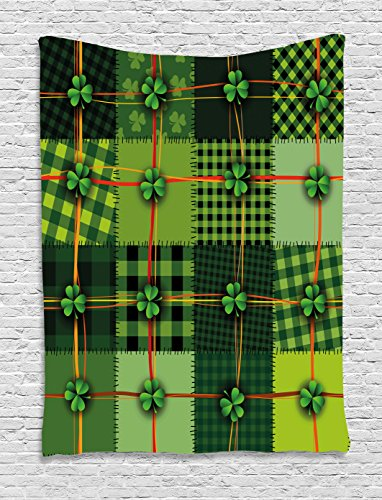 Irish Tapestry by Ambesonne, Patchwork Style St. Patrick's Day