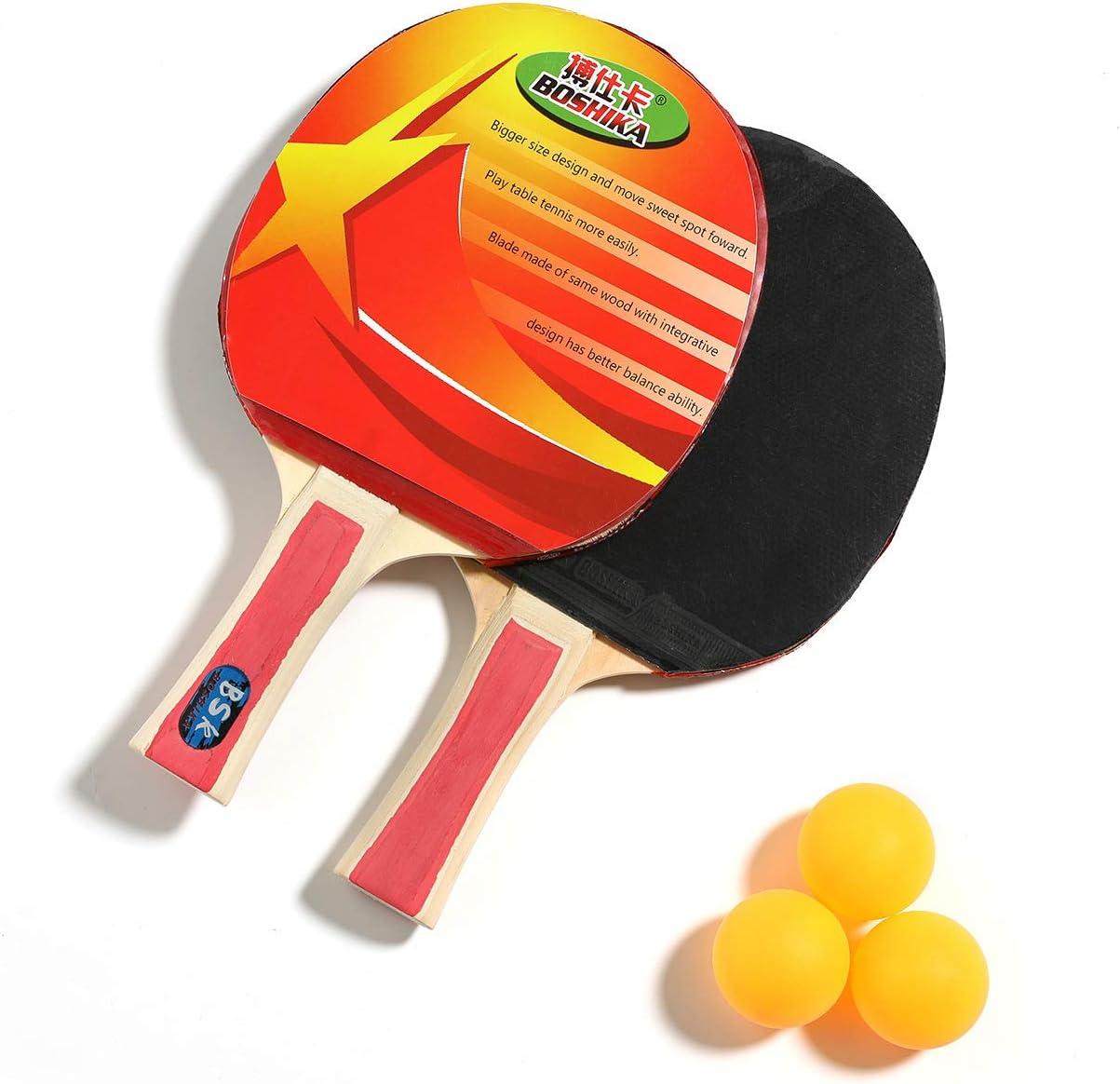 SHJMANPP Deportes Ping Pong Table Tenis De Mesa Pala Ping Pong Deportes Principiantes Juego Palo Raqueta Rotación Y Control Óptimos Deportes Velocidad Fitness, Red
