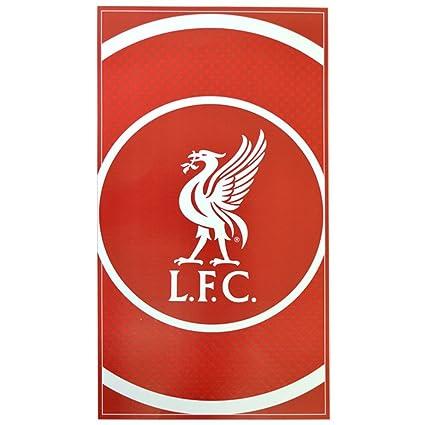 Liverpool FC - Toalla - Diseño circular - Rojo / blanco - 70 x 140 cm