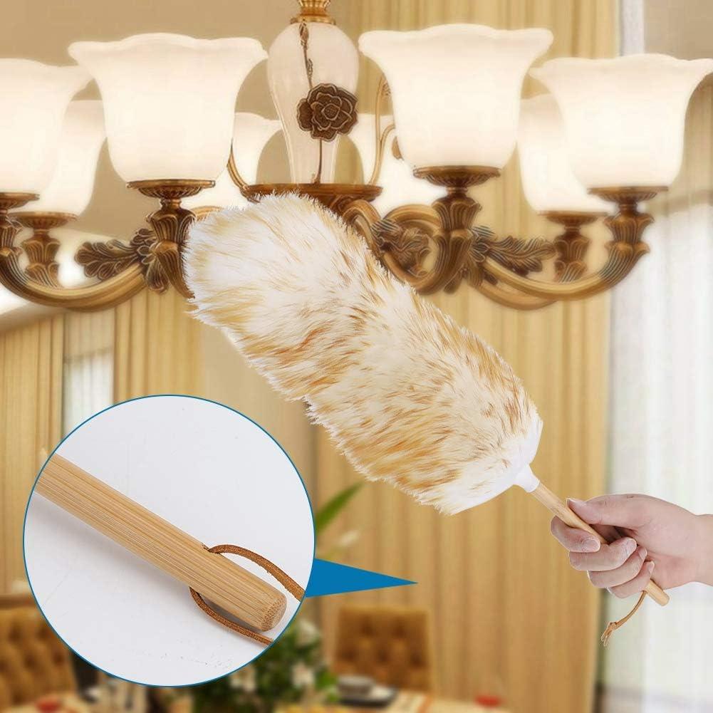 Fait m/énage plumeau non pelucheux nettoyage de meubles plumeau voiture plumeau en laine sans statique utilis/é pour nettoyer votre clavier de livres