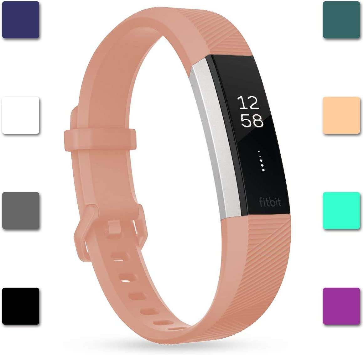 HR Ace Band Replacement Silicone Secure Strap Wristband S L For Fitbit Alta