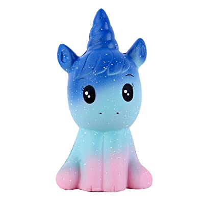 Anboor 4.9 Inches Squishies Unicorn Galaxy Kawaii Soft Slow Rising Scented Animal Squishies Stress Relief Kids Toys (Galaxy): Toys & Games