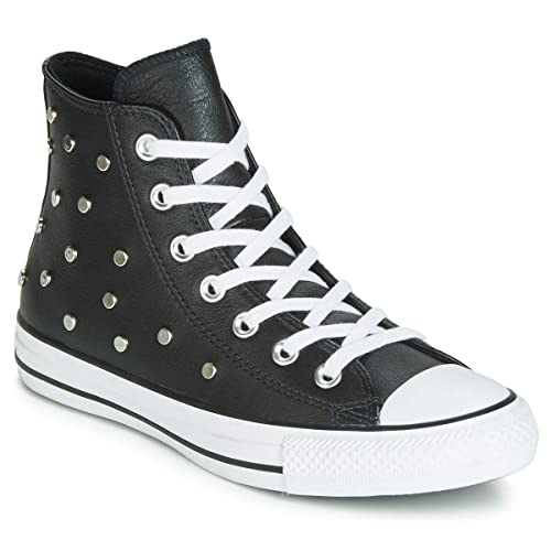 Converse Chuck Taylor All Star Leather Studs Hi Baskets Mode