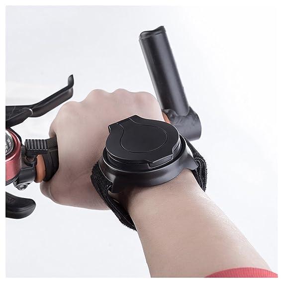 Bicicleta espejo pulsera, hunpta espejo retrovisor de bicicleta para ciclismo seguridad manillar de moto de paseo en bicicleta de carretera de montaña ...