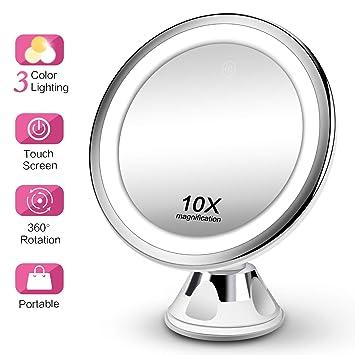 Amazon.com: Makeup Mirror 10X Magnifying Vanity Mirror - 3 ...
