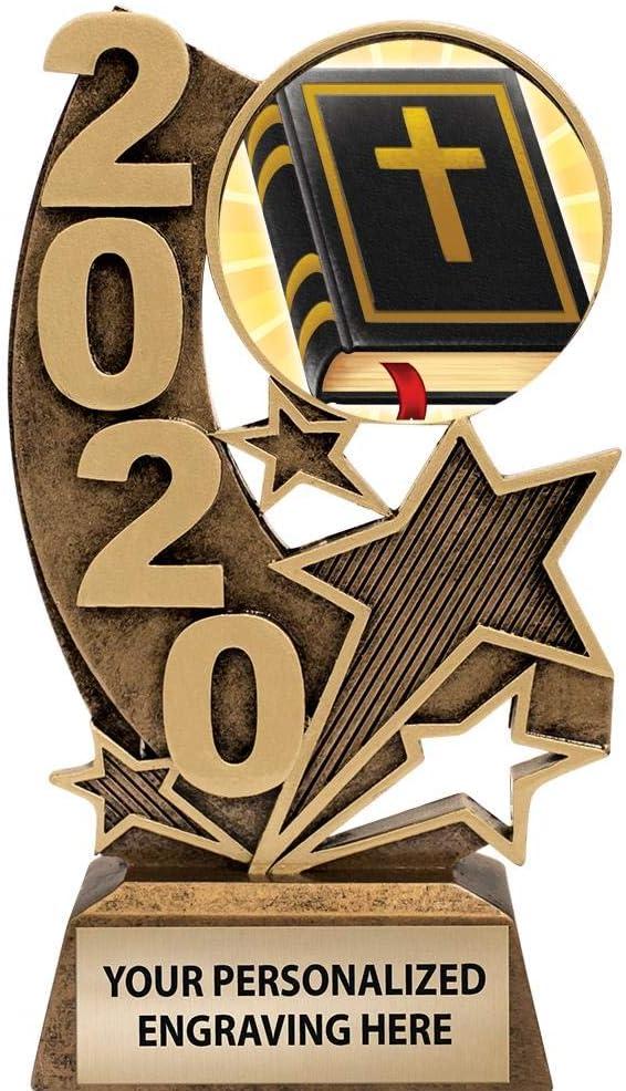 Gold Bible Trophies 6 H 2020 Resin Bible Trophy Award