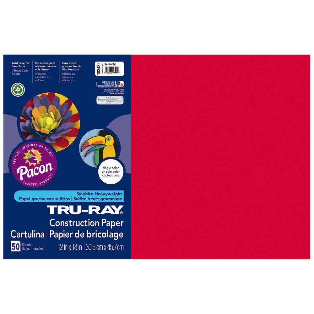 White 9 x 12 Tru-Ray Heavyweight Construction Paper 50 Sheets