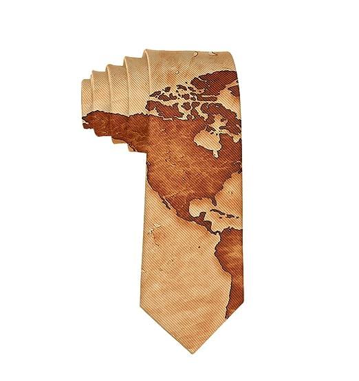 d012ee8aeb80 Men's Gift Printed Tie, Global Map Skinny Necktie Tie, Graduation Party  Dress Tie